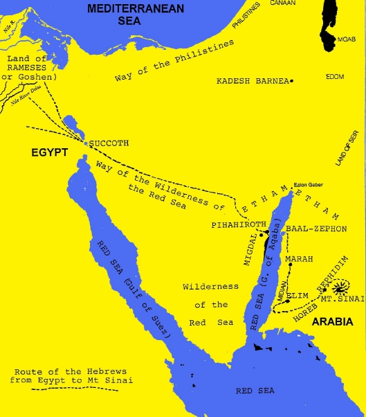 RED SEA CROSSING True Discoveries - Map of egypt moses