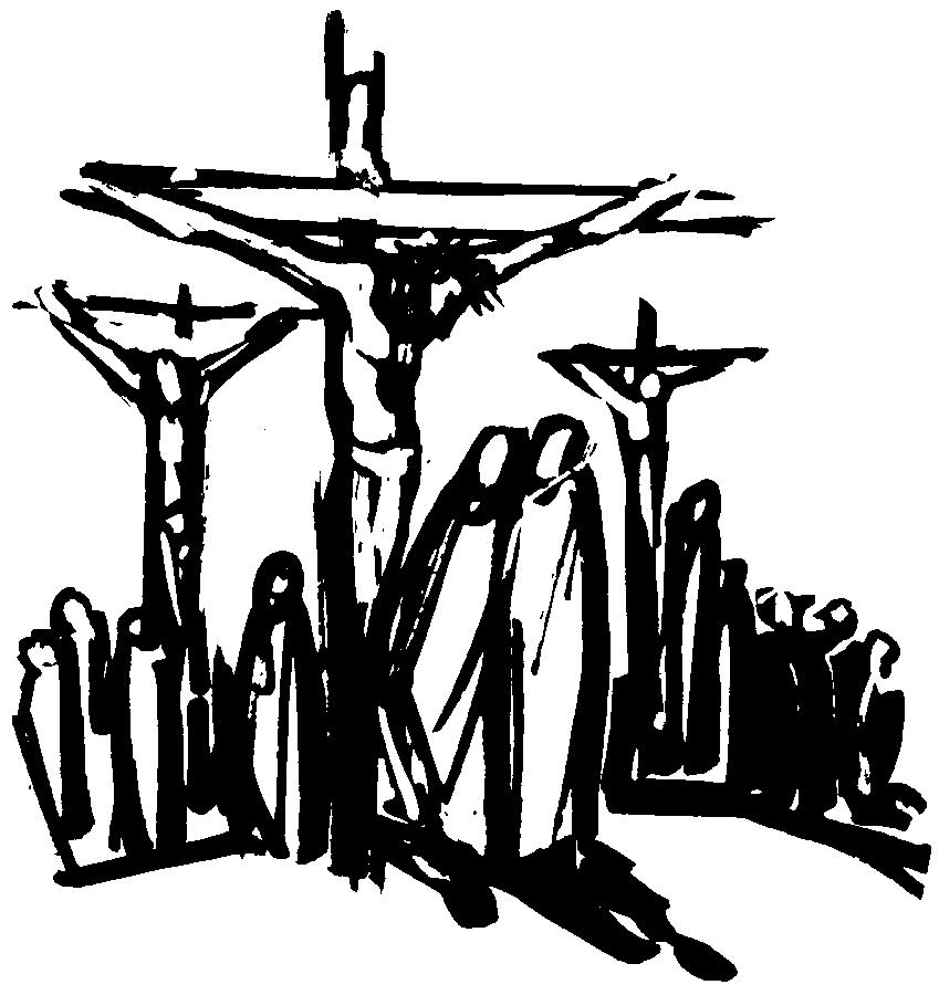 crucifixion bw